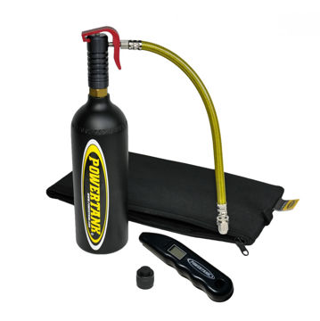 Picture of CO2 Bottle Power Shot Trigger Tire Air Kit W/O Plug Kit Matte Black Power Tank