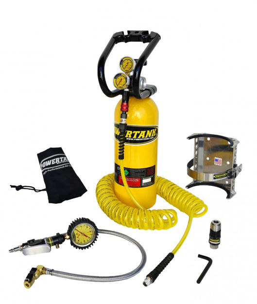 Picture of CO2 Tank 5 LB Power Tank Package B System 400 PSI Team Yellow Power Tank