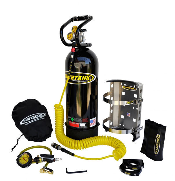 Picture of CO2 Tank 20 LB Package C System Gloss 400 PSI Black Power Tank