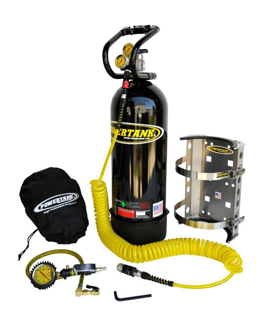 Picture of CO2 Tank 20 LB Package B System 250 PSI Gloss Black Power Tank