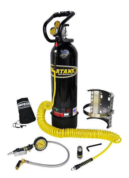 Picture of CO2 Tank 15 LB Power Tank Package B 400 PSI Gloss Black Power Tank