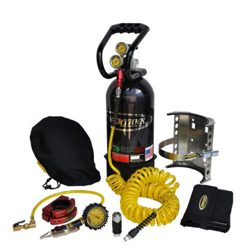 Picture of CO2 Tank 10 LB Package C System 250 PSI W/Power Flow II and Roll Bar Clamps Gloss Black Power Tank