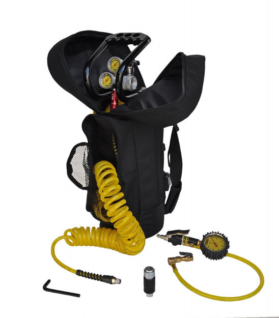 Picture of CO2 Tank 10 LB Track Pack Package B System 400 PSI Team Yellow Power Tank