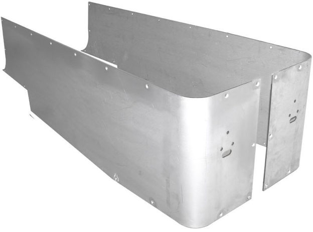 Picture of Jeep Corner Guard Blanks Set Full 81-86 Jeep CJ-8 Rear Aluminum Bare GenRight