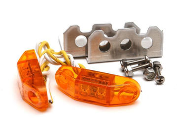Picture of Jeep LED Stealth Side Marker Lights Pair Universal Amber GenRight